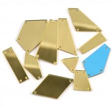 Пришивное зеркало Золото (светлое)